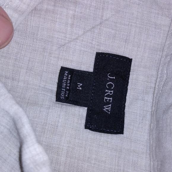 Men's j crew button up medium gray blue shirt
